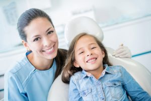 mom and daughter dental visit